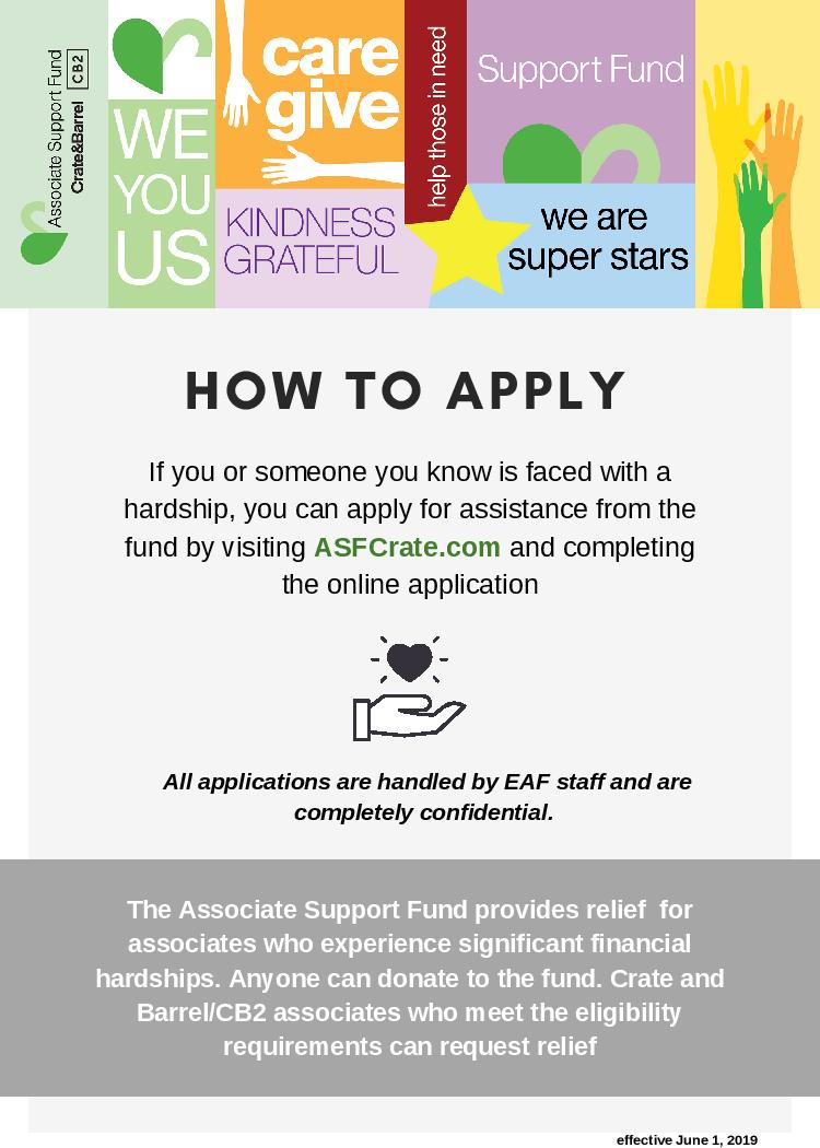 Associate Support Fund - How to Apply